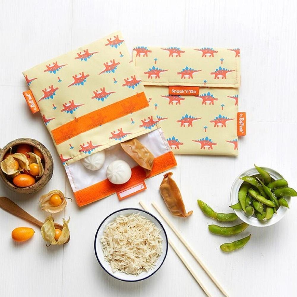 Roll′eat | 西班牙食物袋 吃貨零食袋(M)-侏儸紀恐龍