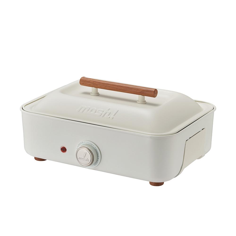 MOSH!|多功能電烤盤 M-HP1 IV象牙白