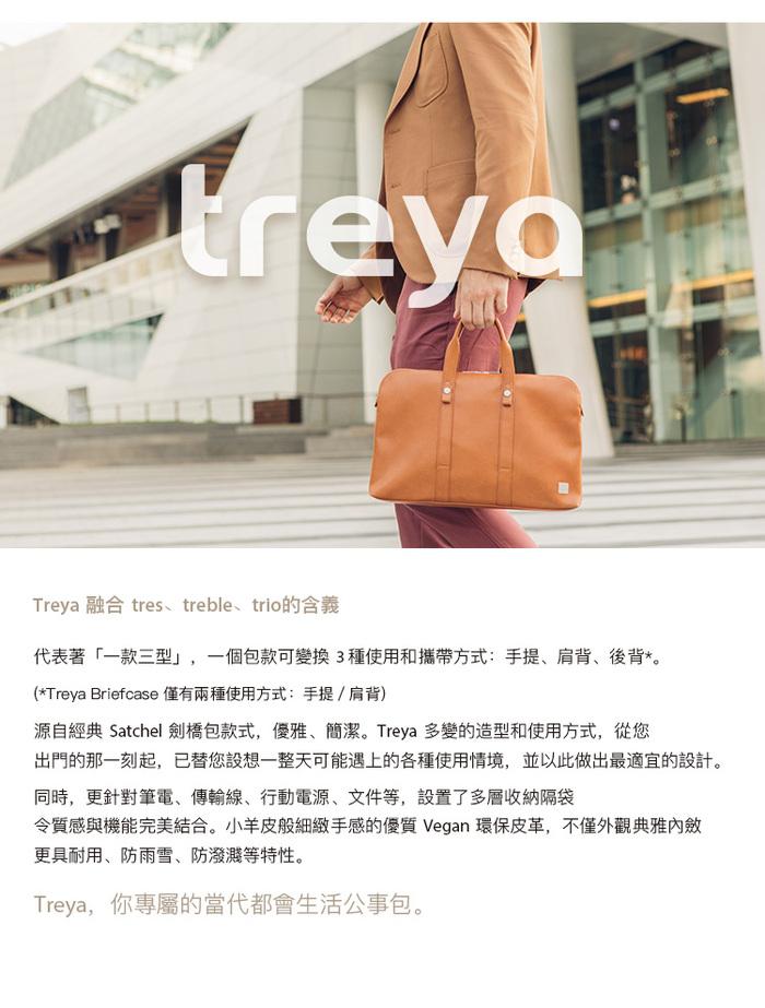 Moshi|Treya Briefcase 超輕量皮革劍橋筆電包