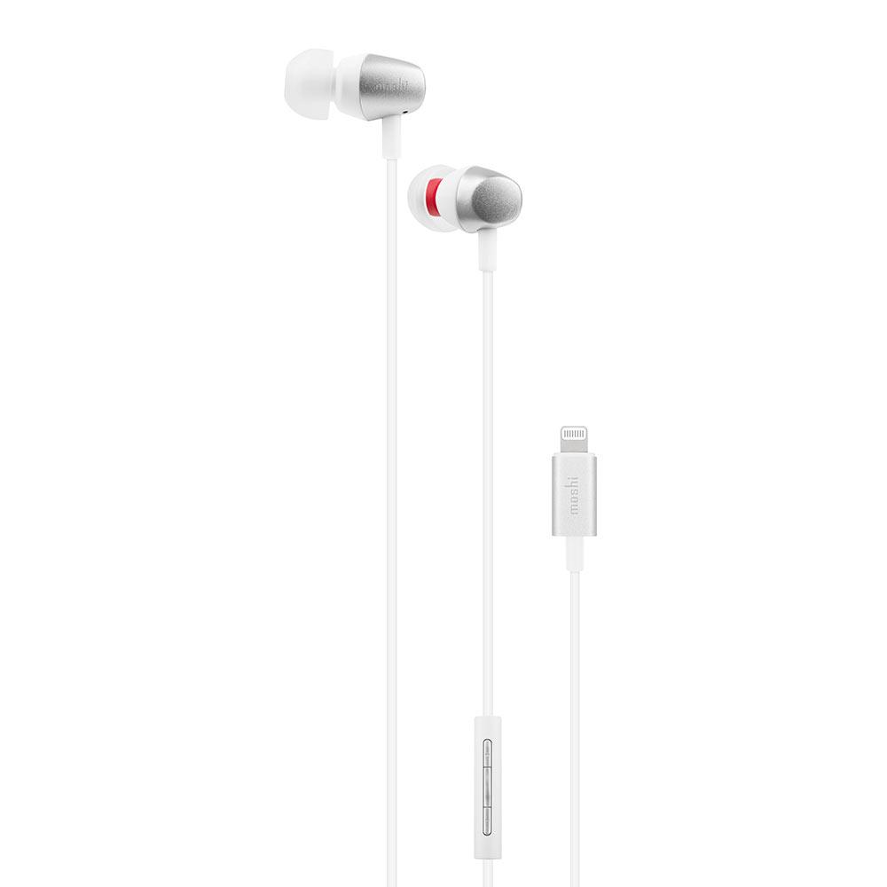 Moshi Mythro LT 入耳式耳機 (銀白)