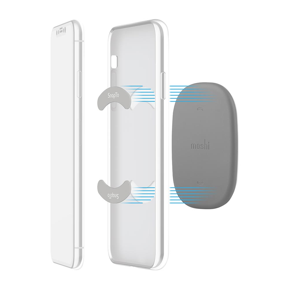 Moshi|iGlaze for iPhone XR 風尚晶亮保護殼 + SnapTo™ 磁吸固定基座組