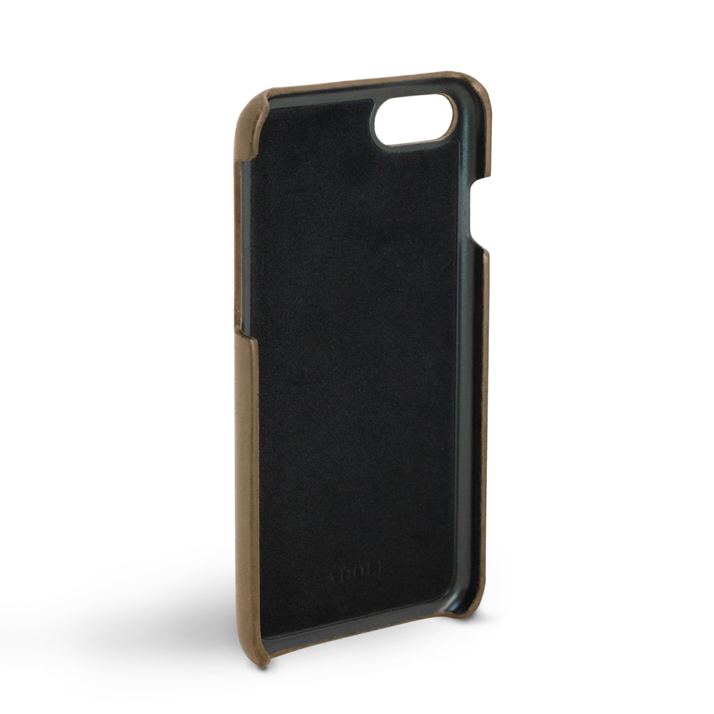 ADOLE|iPhone 7/8 4.7吋真皮防潑水手機殼-摩卡