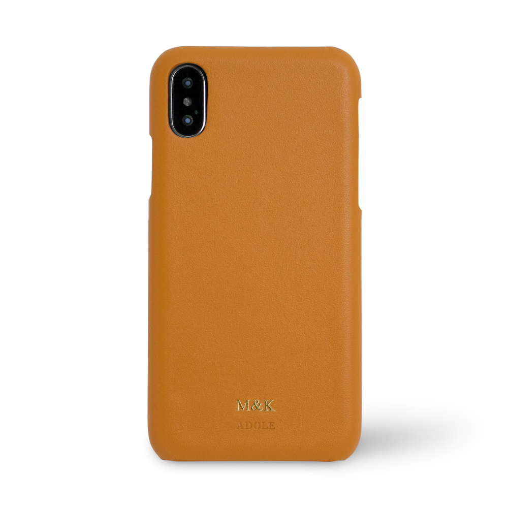 ADOLE|iPhone X 5.8吋真皮防潑水手機殼-棕