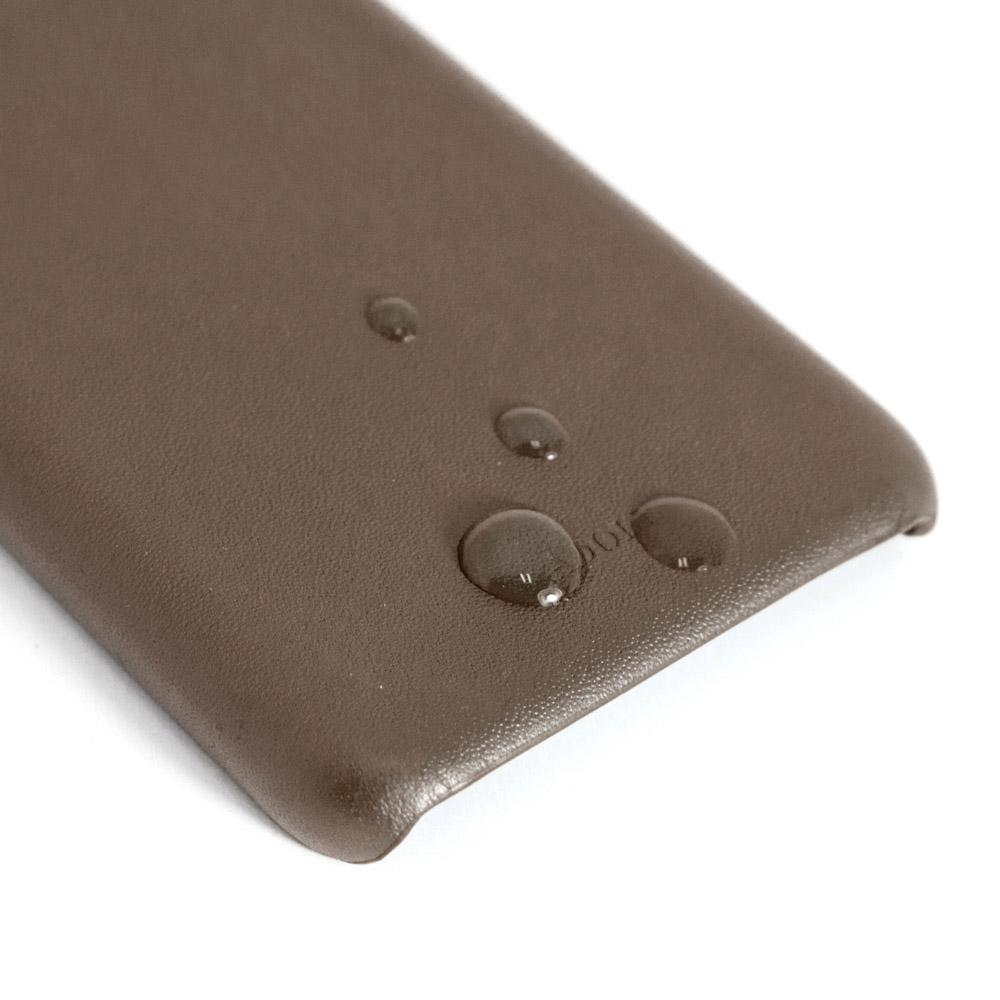 ADOLE|iPhone X 5.8吋真皮防潑水手機殼-摩卡