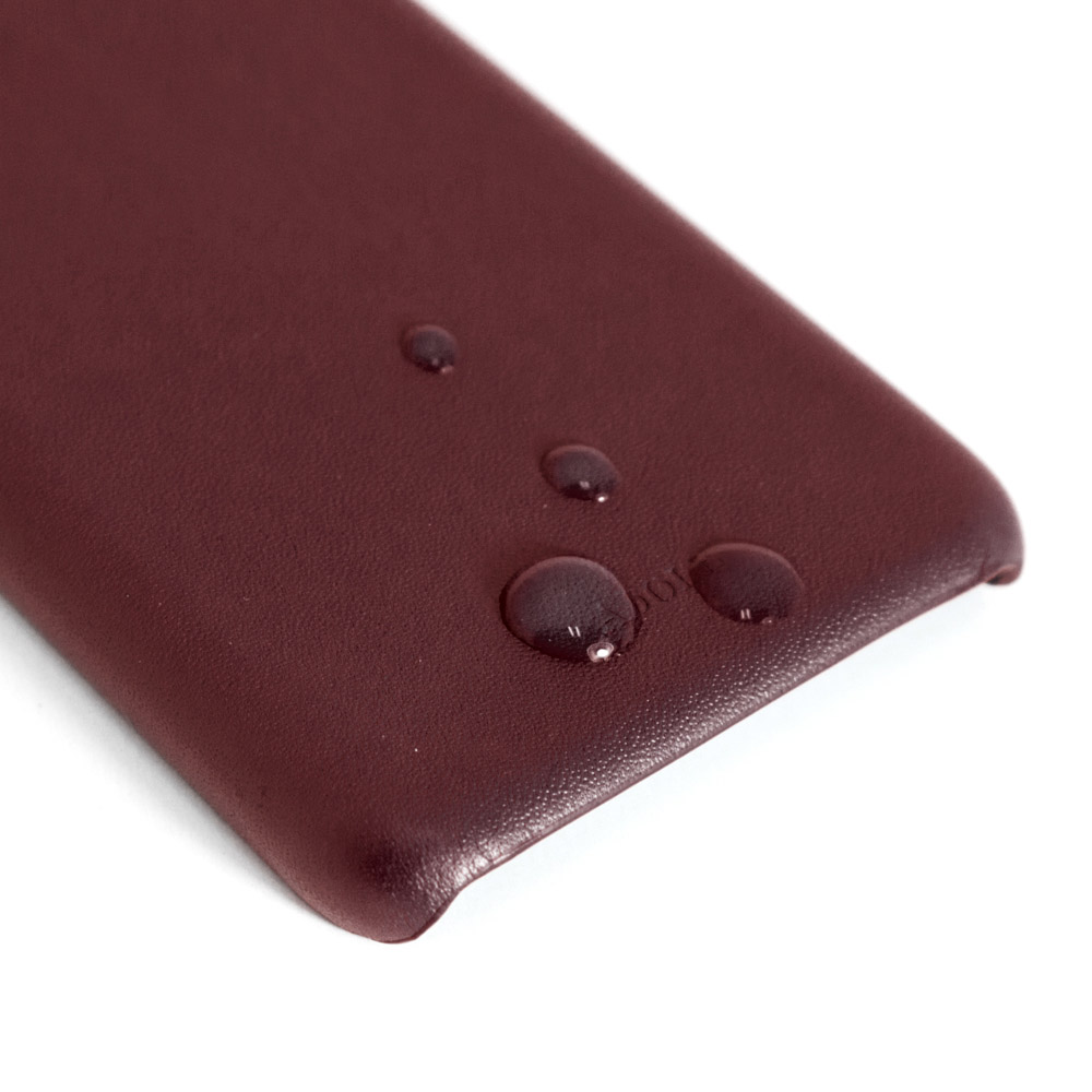 ADOLE|iPhone X 5.8 吋真皮防潑水手機殼卡夾款-酒紅