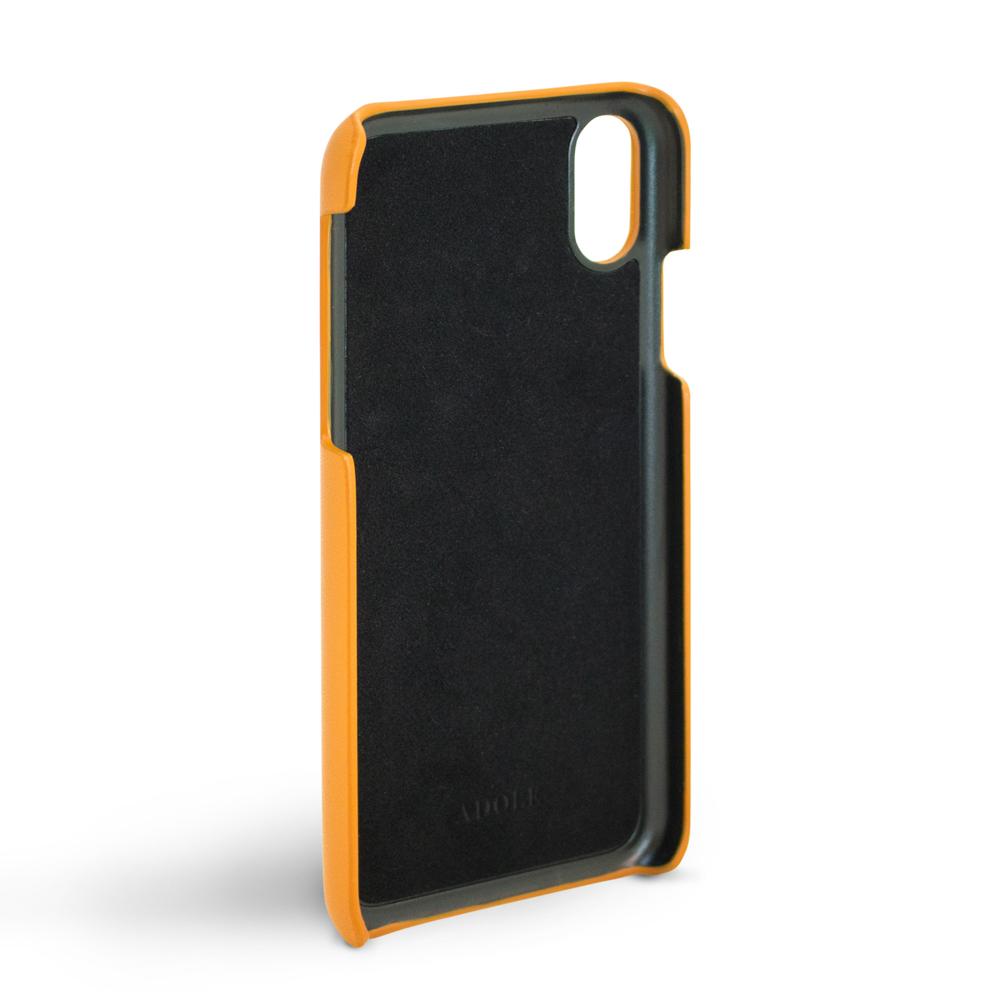 ADOLE|iPhone X 5.8 吋真皮防潑水手機殼卡夾款-棕