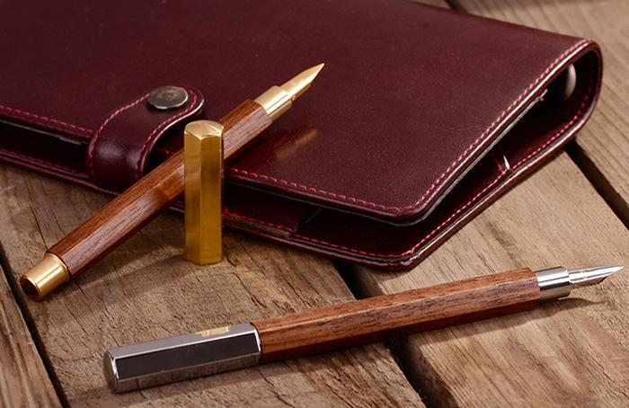SKB文明鋼筆 | 六角木頭鋼筆(黃銅)
