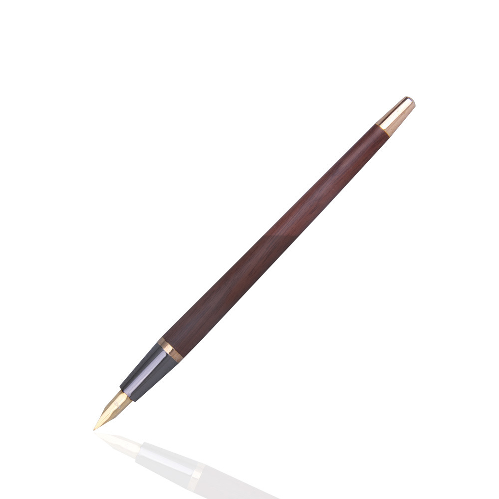 SKB文明鋼筆 | 尊爵系列檯筆對筆組禮盒組(鍍黃金鋼筆/鍍黃金鋼珠筆)