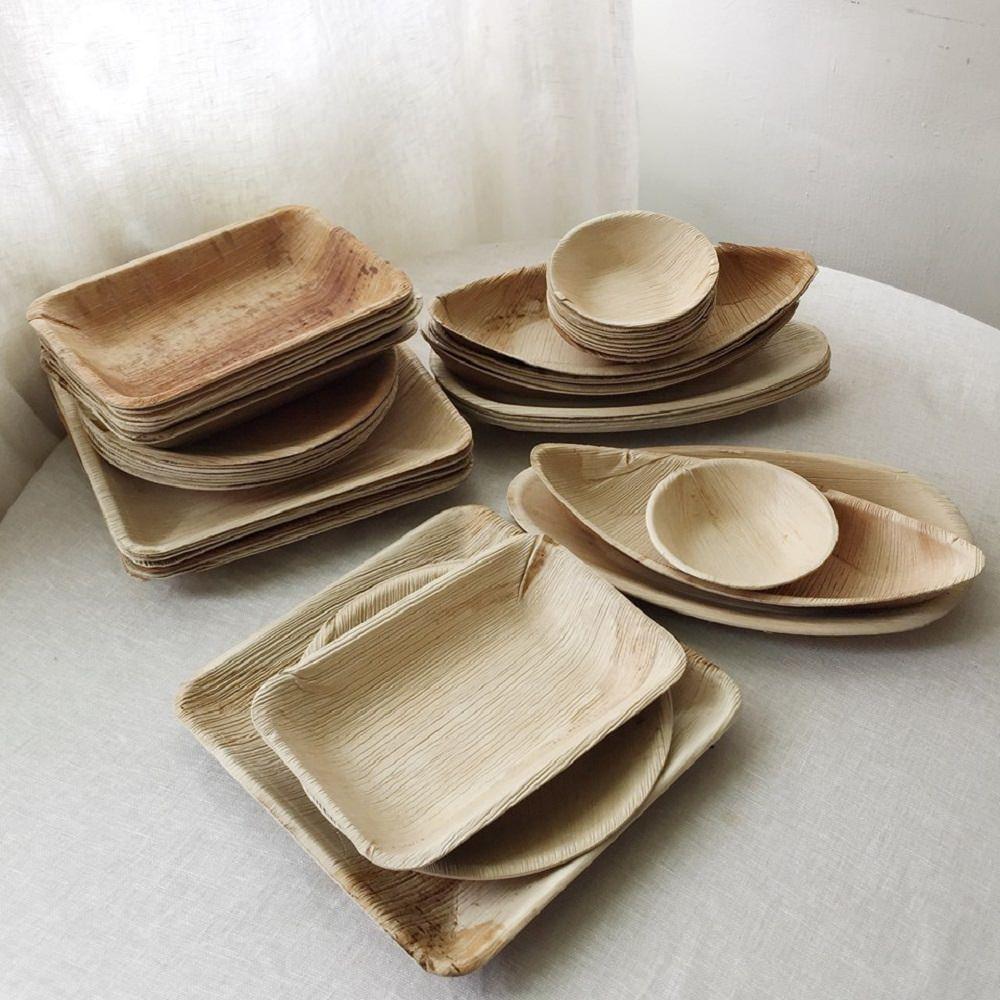 仁舟淨塑|葉子餐盤承食美麗組(50件10人份)