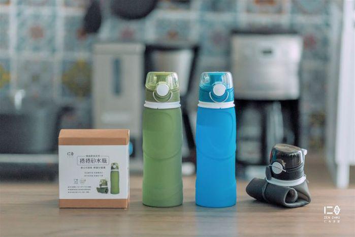 仁舟淨塑|【捲捲系列】矽水瓶+矽光瓶(750ml)