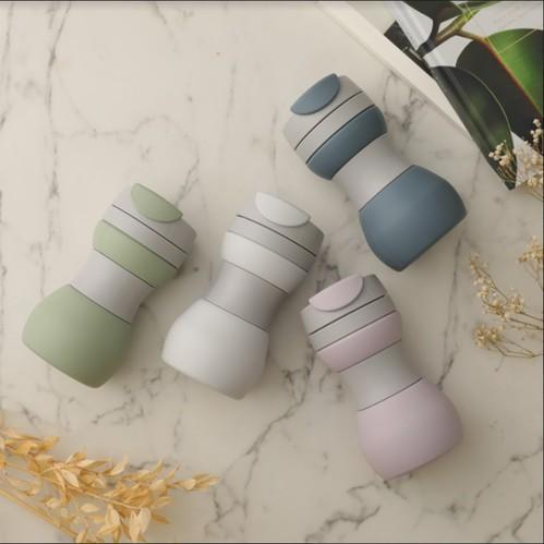仁舟淨塑 升級款矽密咖啡杯+矽吸管組 (環保組)