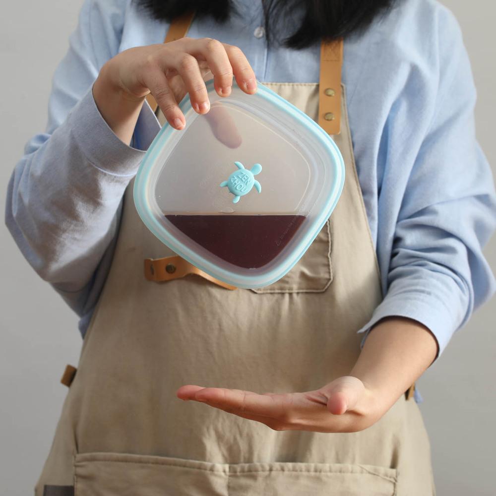 仁舟淨塑 矽密盒2.0環保生活超值組 (三款尺寸+蜂蠟保鮮布)