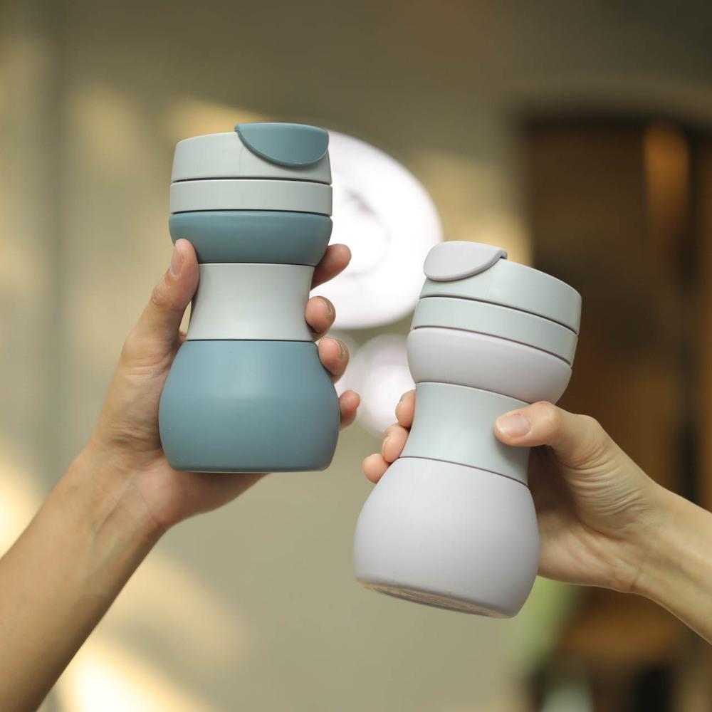 仁舟淨塑 升級款矽密咖啡杯迷霧灰