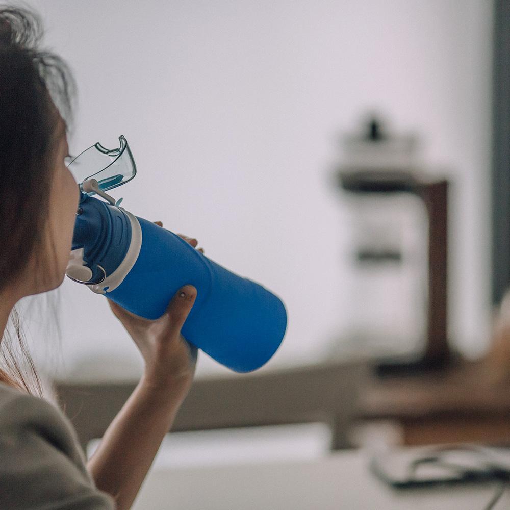 仁舟淨塑|捲捲矽水瓶-親子雙入組(550ml+750ml)