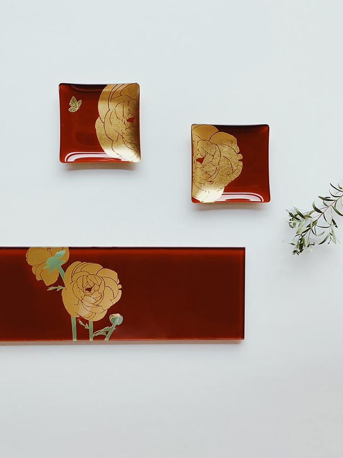 (複製)WEN PIIM   First_ Gold Foil Square Glass Plate x 【手工工藝貼箔技法】最初_小方器皿