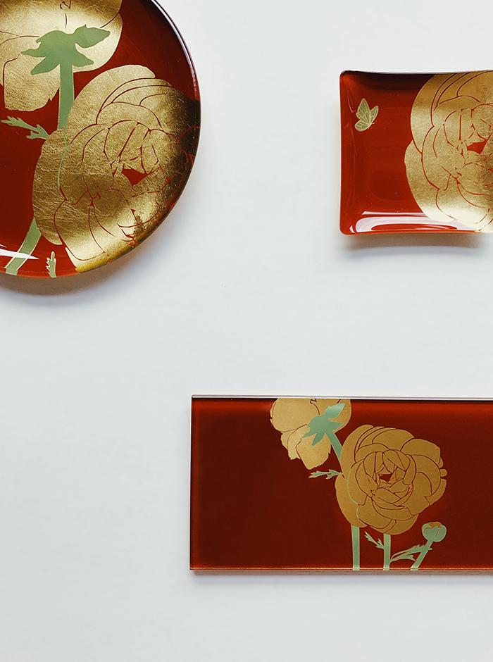 (複製)WEN PIIM | First_ Gold Foil Square Glass Plate x 【手工工藝貼箔技法】最初_小方器皿