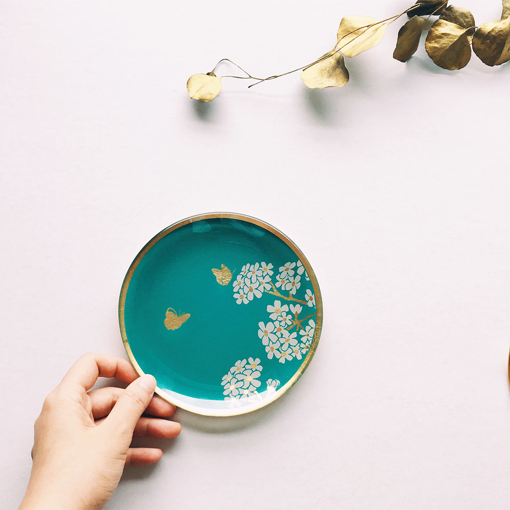WEN PIIM   Venus Healing Gold Foil Round Plate x 維納斯的治癒圓形器皿