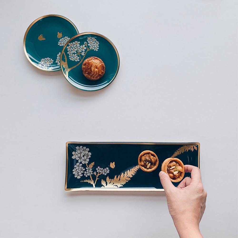 WEN PIIM | Venus Healing Gold Foil Rectangle Plate x 維納斯的治癒長方形器皿