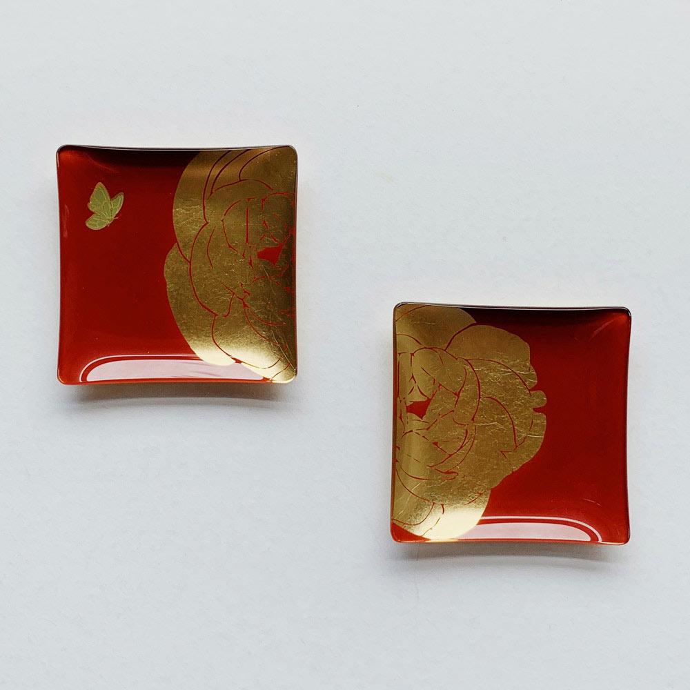WEN PIIM   First_ Gold Foil Square Glass Plate x 手工工藝貼箔技法 最初_小方器皿