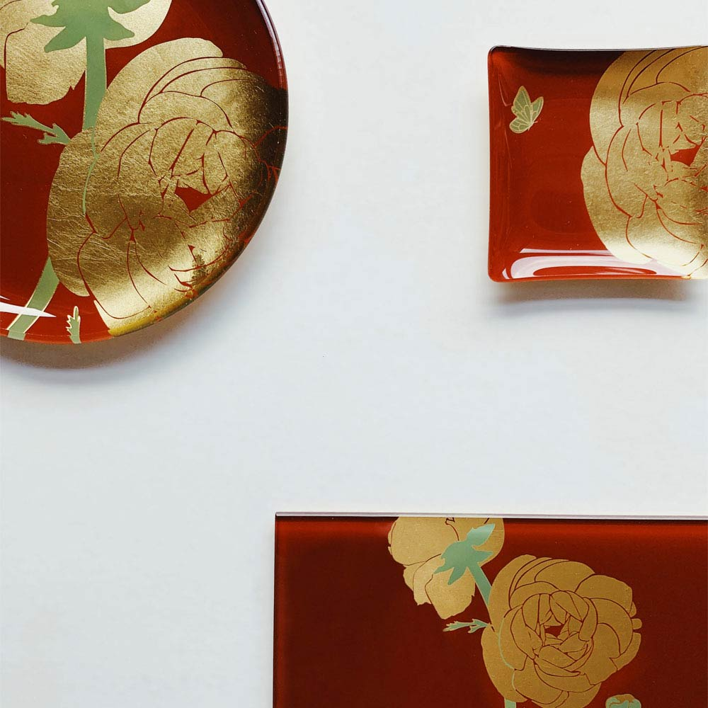 WEN PIIM | First_ Gold Foil Round Glass Plate x 手工工藝貼箔技法 最初_ 中圓器皿