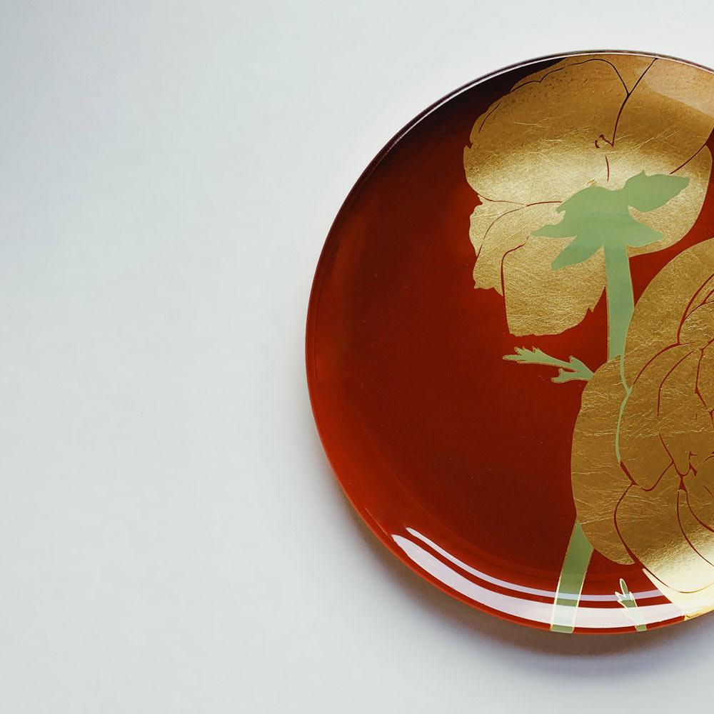WEN PIIM|First_ Gold Foil Round Glass Plate x 手工工藝貼箔技法 最初_ 雙圓(中+小)器皿