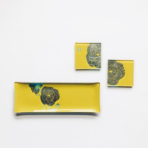 WEN PIIM | First Silver Foil Rectangle Plate x 手工工藝貼箔技法 最初_ 曙光黃長方形器皿