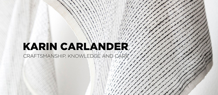 Karin Carlander|亞麻茶巾 織4號 - 刺子- 黑