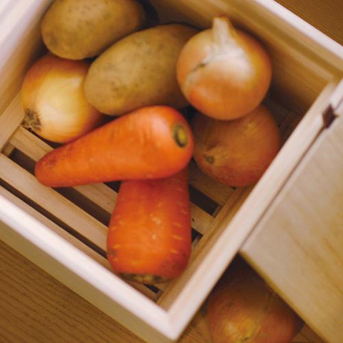 Kirihaco|日本桐木野菜保存箱S