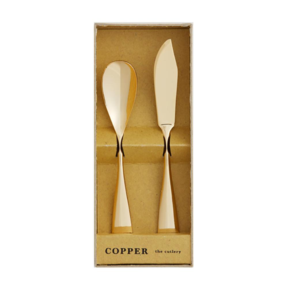COPPER THE CUTLERY | 100%純銅製 COPPER 2件組 24k金亮面