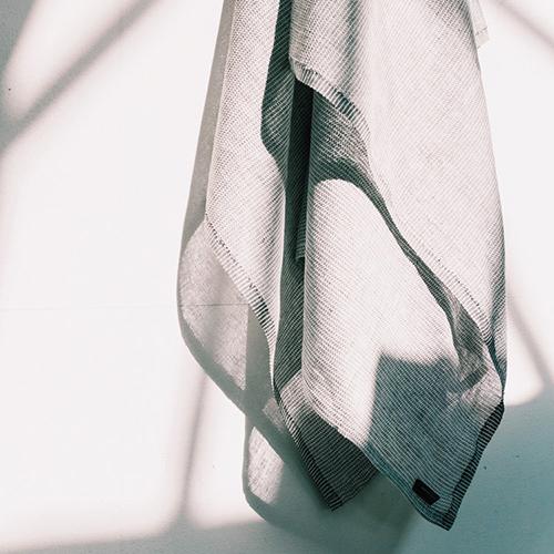 Karin Carlander|亞麻桌布 織6號 - 兩兩 - 麥色黑線