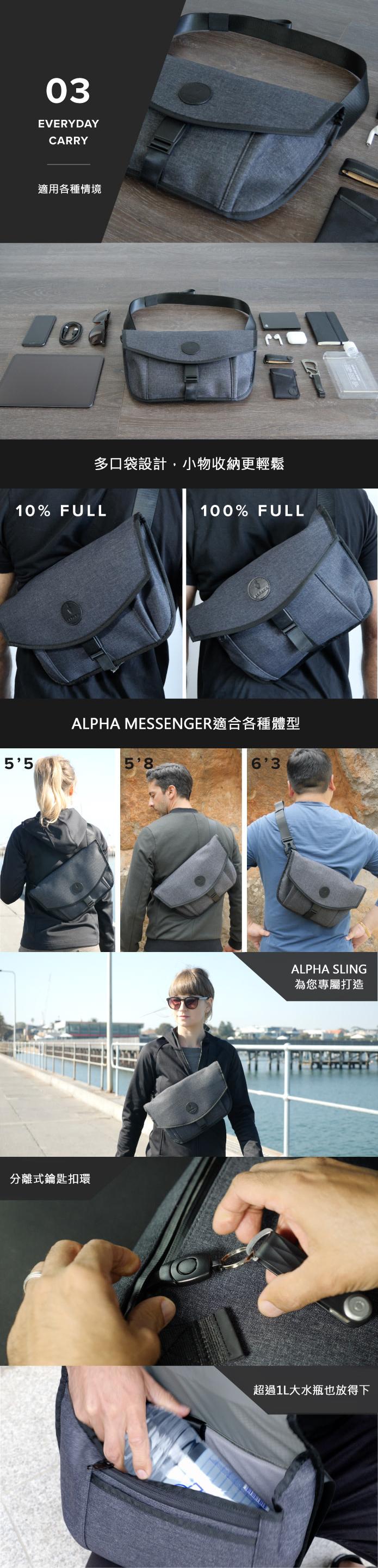ALPAKA│Alpha Messenger 輕巧防水多功能筆電包(兩色任選)