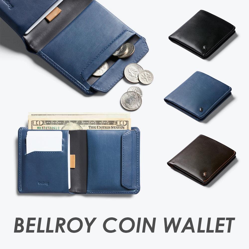 澳洲 Bellroy|Coin Wallet 植鞣皮RFID短夾/皮夾(三色任選)