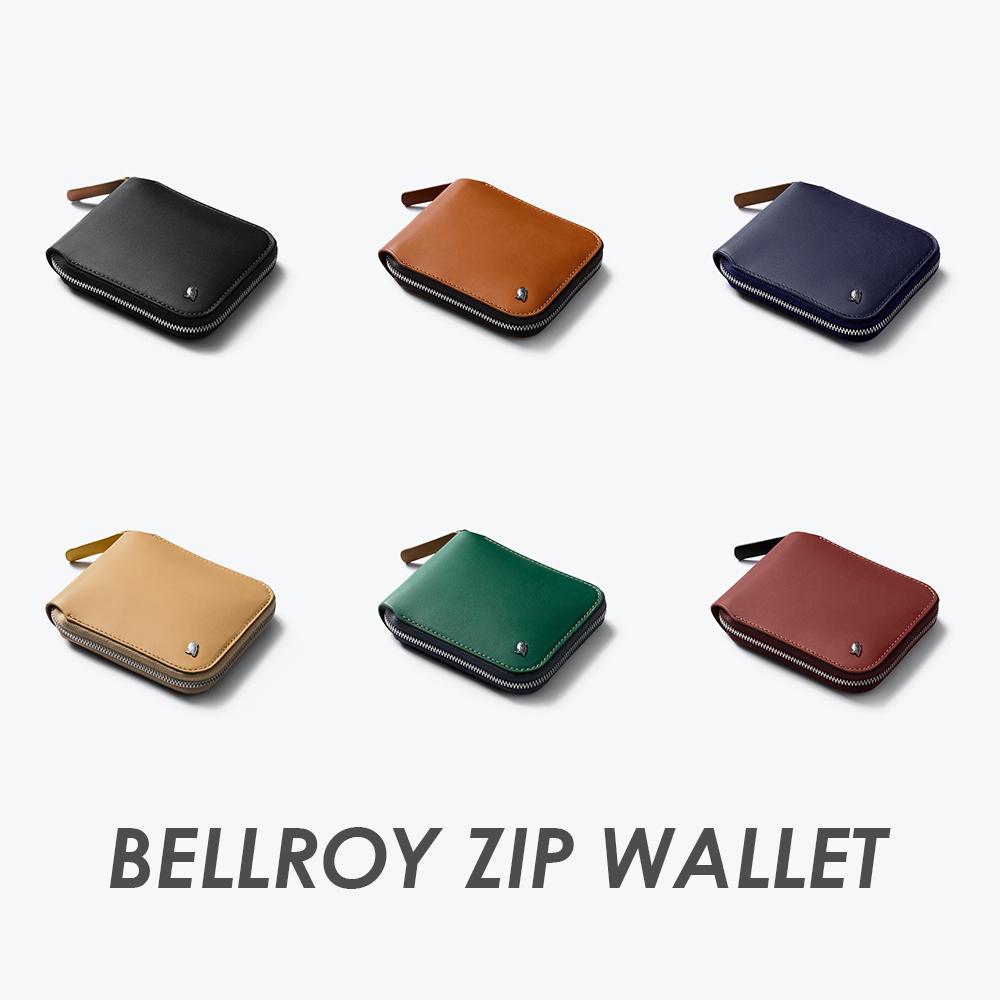 澳洲 Bellroy|Zip Wallet 植鞣皮RFID拉鍊短夾(六色任選)