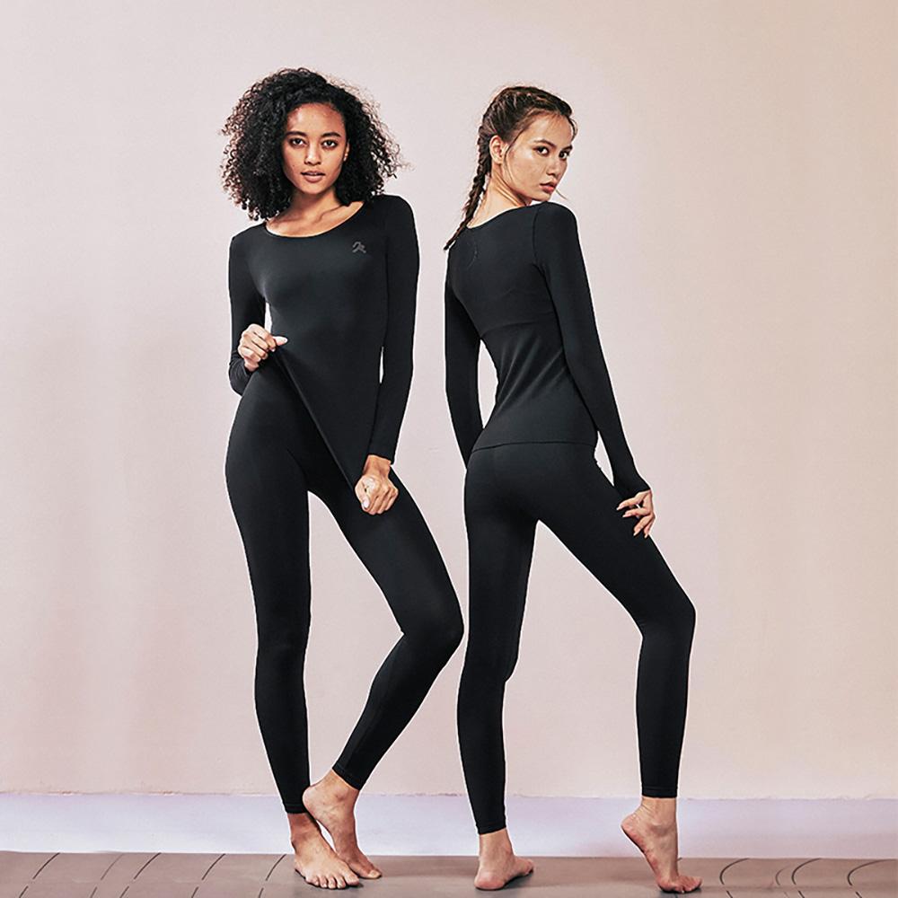 YPL|R92 恆溫保暖衣褲組 (黑色) + R92天鵝絨塑腿褲襪 (黑色)
