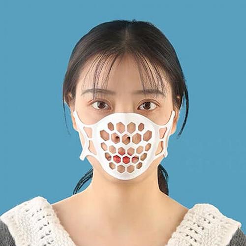 iClean|3D立體透氣口罩架 白色 - 十入組