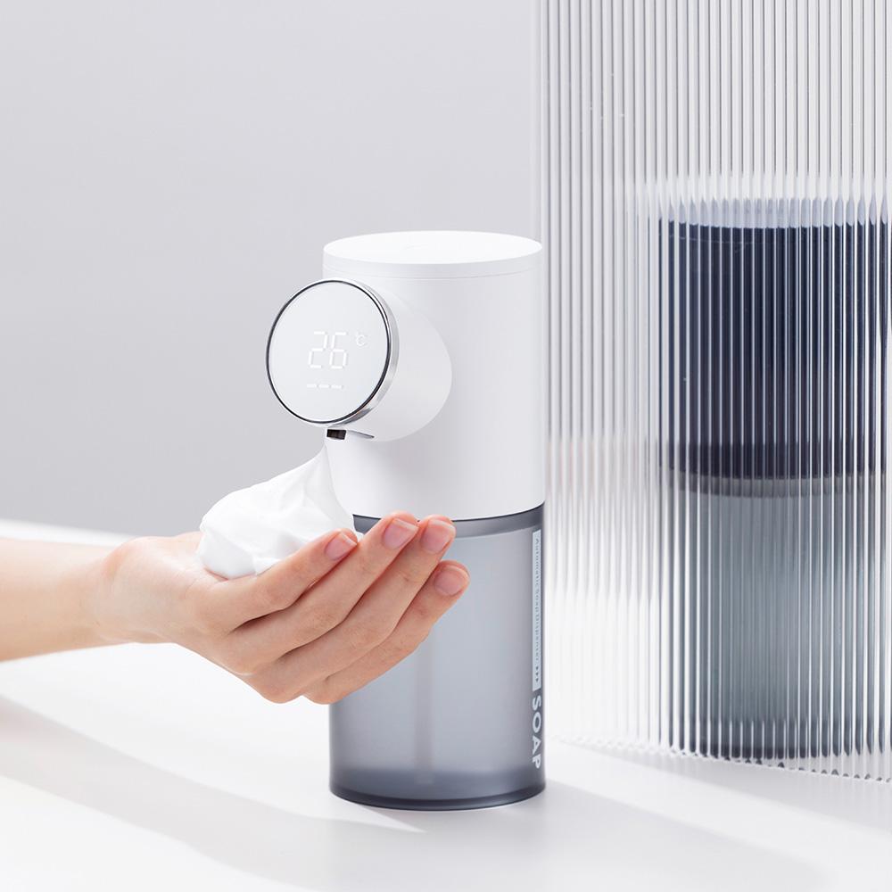 iClean LED溫度顯示自動泡沫給皂機(二入)