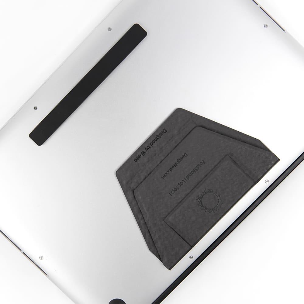 DesignNest|FoldStand 超輕薄隱形筆電支架 11吋以上皆可用 酷炫灰