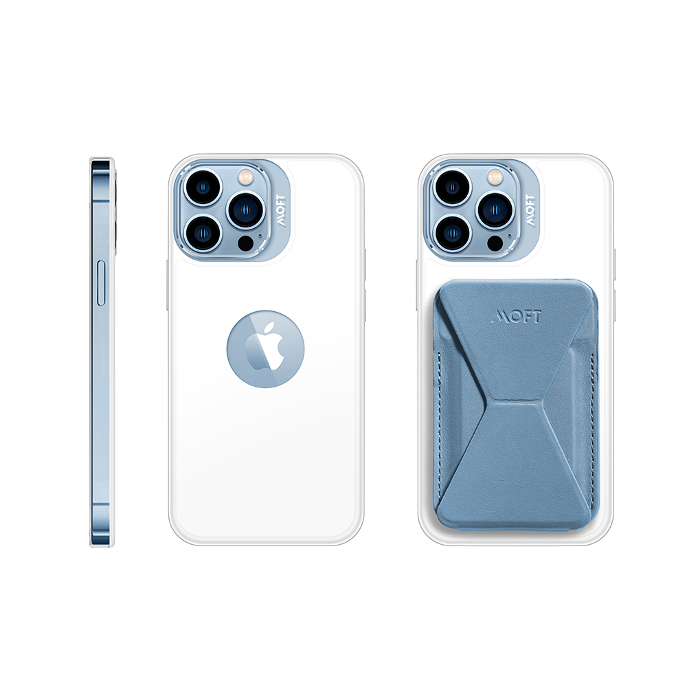 MOFT 磁吸防摔保護殼(白)+磁吸手機支架  iPhone13專用
