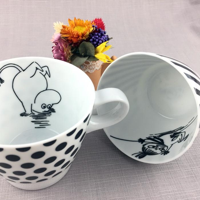yamaka|MOOMIN嚕嚕米幾何系列-嚕嚕米&小不點咖啡對杯