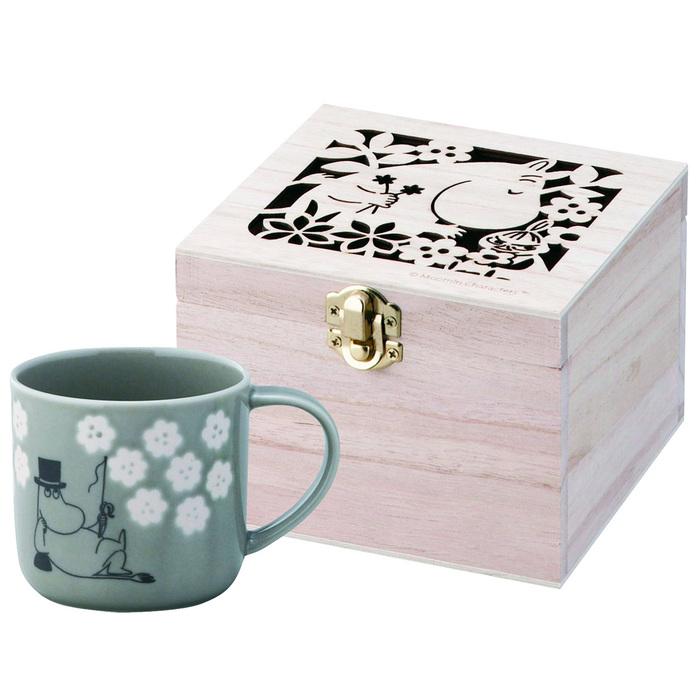 yamaka|MOOMIN嚕嚕米小花系列-嚕爸木盒馬克杯