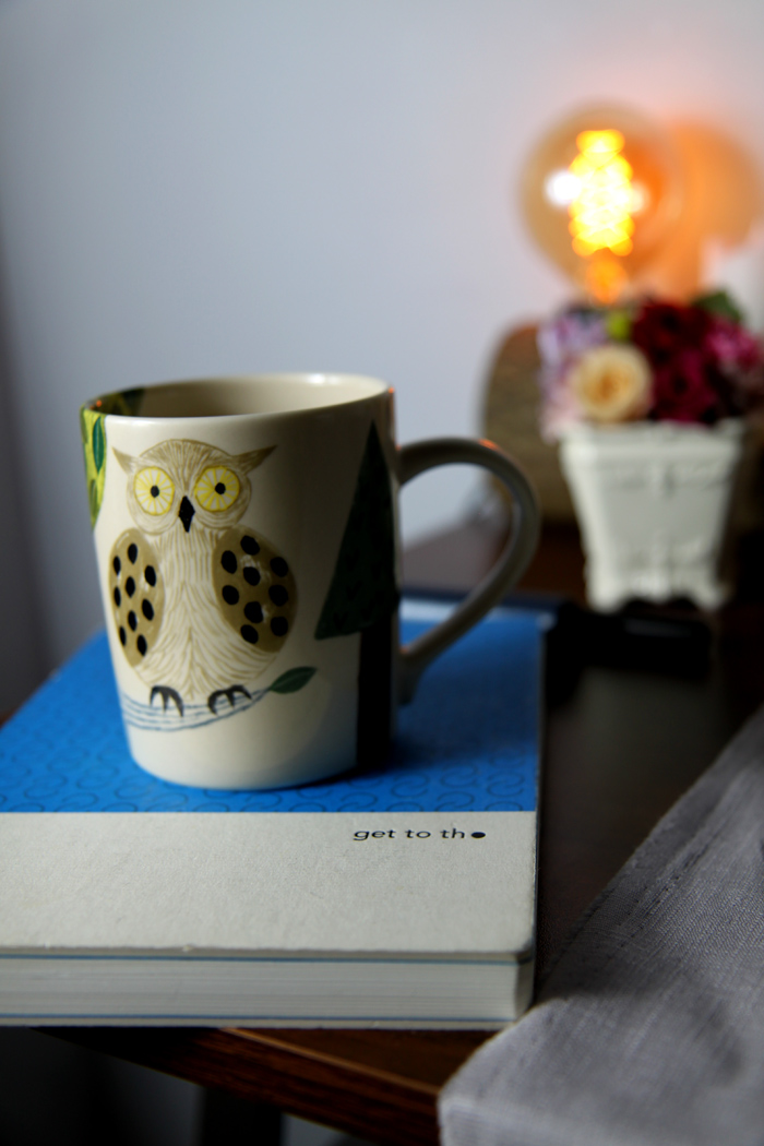 yamaka|松尾美雪-貓頭鷹圓筒杯