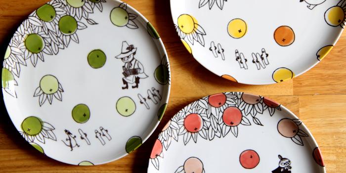 yamaka|MOOMIN嚕嚕米柑橘系列-3入淺盤組