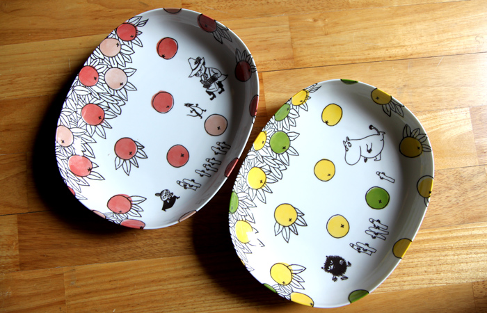 yamaka|MOOMIN嚕嚕米柑橘系列-2入橢圓碗盤組