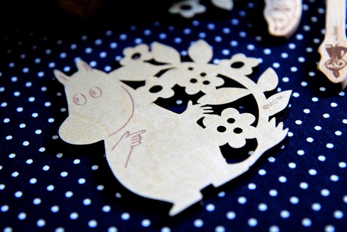 yamaka|MOOMIN嚕嚕米天然木系列-嚕嚕米木雕杯墊