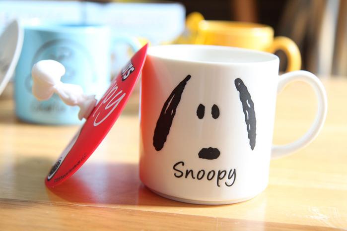 yamaka|SNOOPY史努比人物系列-史努比馬克杯+杯蓋