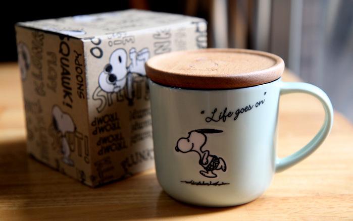 (複製)yamaka|SNOOPY史努比季節系列馬克杯+杯/墊蓋(春天)
