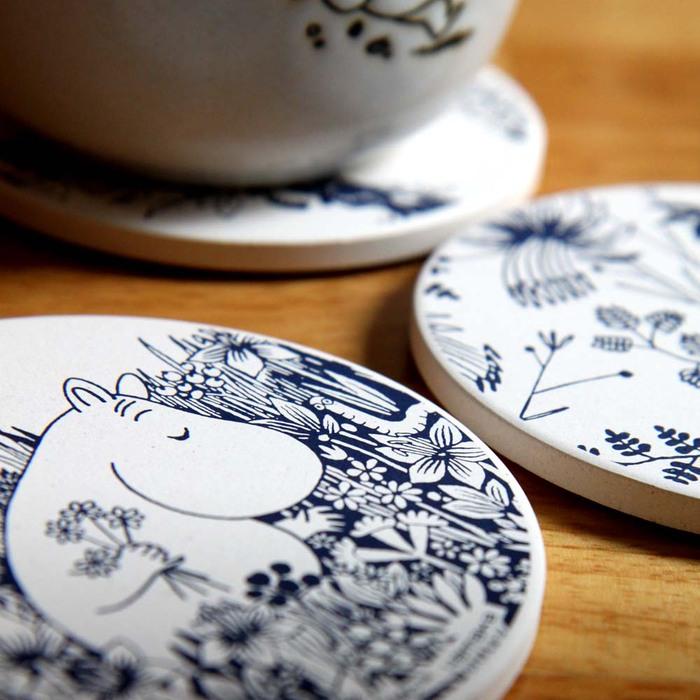 yamaka|MOOMIN嚕嚕米花繪系列-嚕嚕米珪藻土杯墊