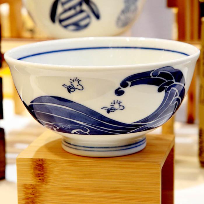 (複製)yamaka SNOOPY史努比和風藍系列大碗(方格)14.5cm