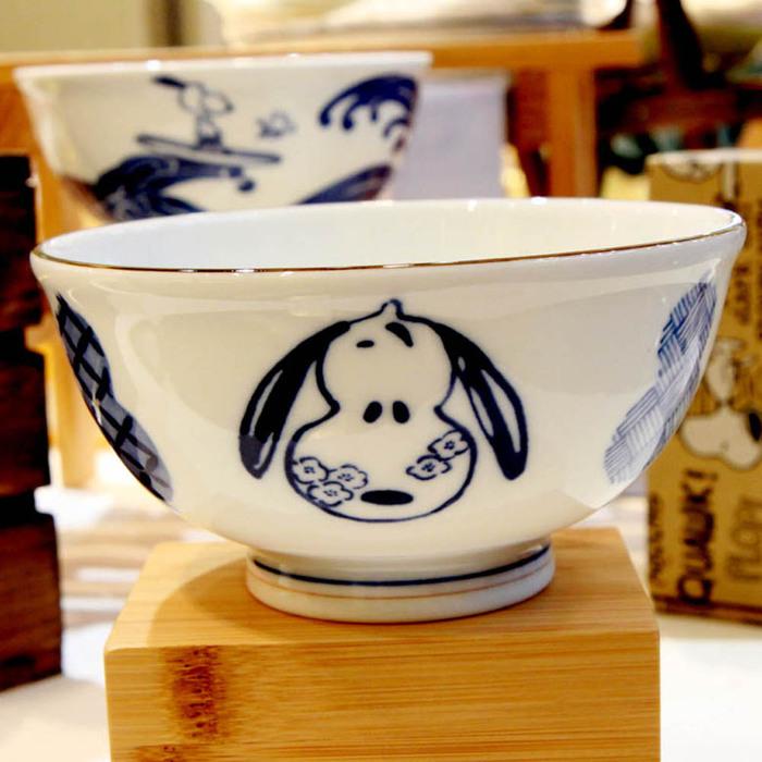 (複製)yamaka|SNOOPY史努比和風藍系列大碗(衝浪)14.5cm