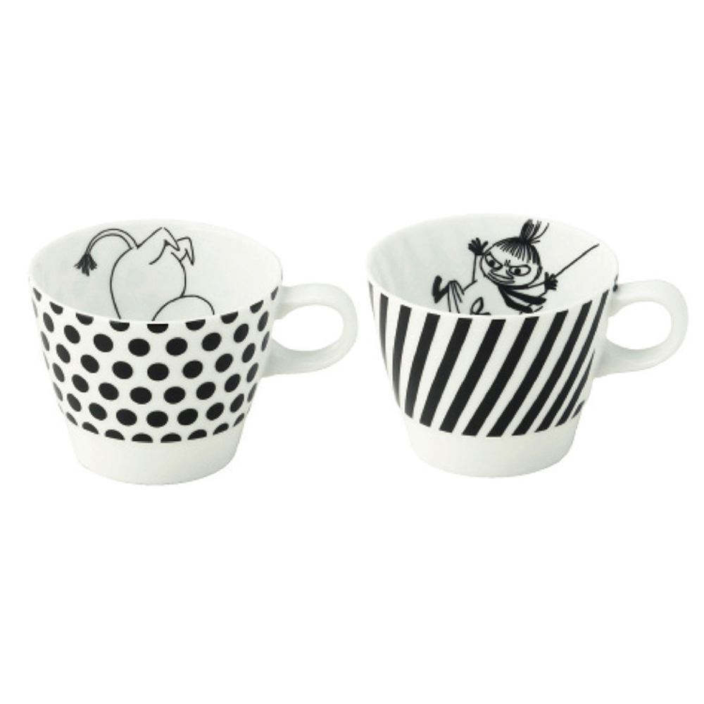 yamaka MOOMIN嚕嚕米幾何系列-嚕嚕米&小不點咖啡對杯